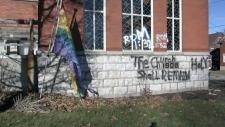 Church vandalized