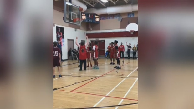 A Halifax student with special needs was given the opportunity to score a few points for his team in a live game.