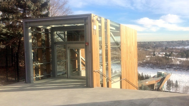 The City of Edmonton expects the funicular to start running on Dec. 9.