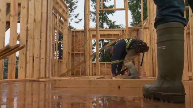 Canadian housing starts fell to 216980 units in December: CMHC