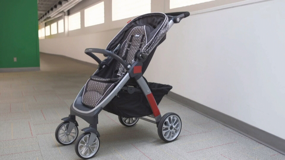 A mother was walking with her child in Longueuil when a man allegedly came up behind her and tried to grab the infant from the stroller.
