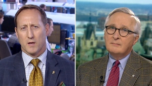 Former defence minister Peter MacKay (left) and former CSIS director Richard Fadden (right) speak with CTV's Question Period.