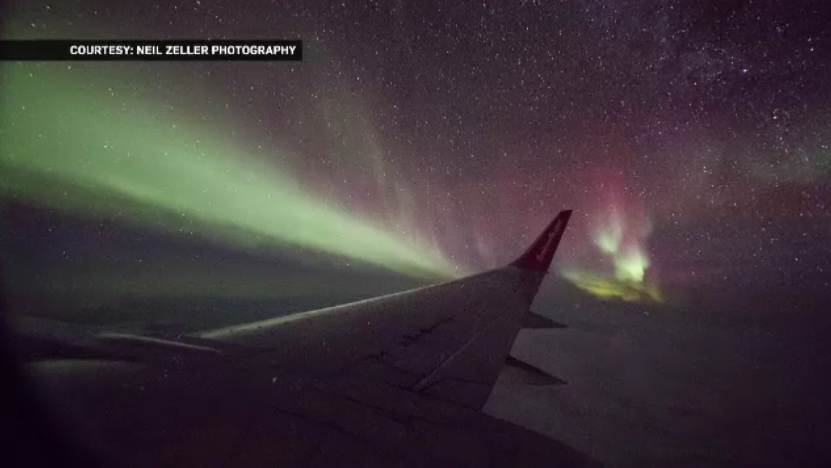 The nearly four-hour Aurora 360 flight had no set destination other than to explore the nighttime sky in search of the northern lights. (Neil Zeller )