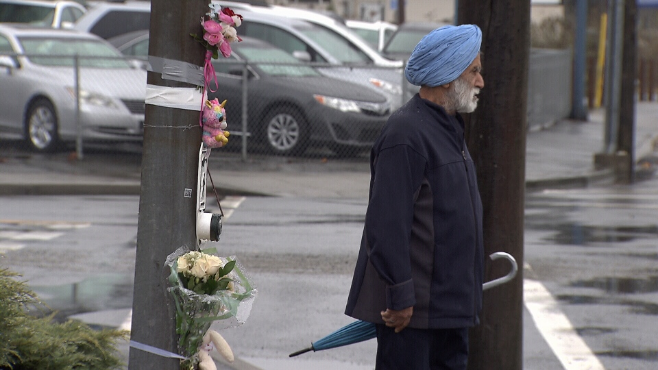 Sometimes there is a crossing guard where Hala was hit, but on Friday, there wasn't.