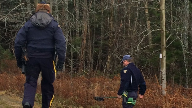 Officers who were investigating the area with metal detectors earlier Sunday morning told CTV News the area is heavily used by hunters.