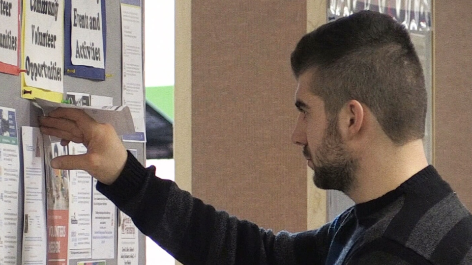 A Conestoga College student is seen on Dec. 2, 2017. (CTV Kitchener)