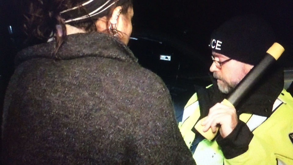 South Simcoe Police conduct roadside sobriety tests in Bradford on Saturday December 3, 2017
