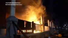 Caught on cam: Suspected arson in Toronto
