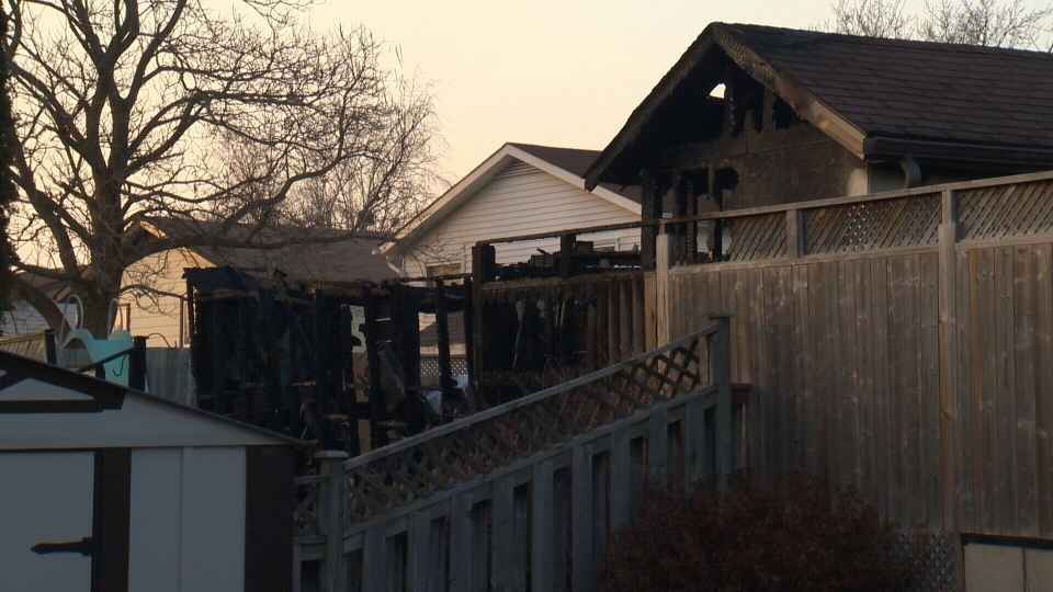 Four properties in total were damaged after a fire broke out on Broken Oak Crescent in the Forest Height neighbourhood of Kitchener on Dec. 3, 2017 (CTV Kitchener)