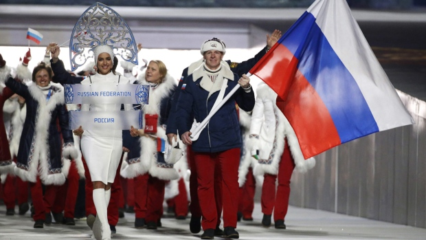 Russian team in Sochi 2014 Winter Olympics