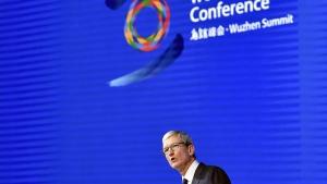 Apple's CEO Tim Cook in Wuzhen