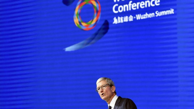 Apple's CEO Tim Cook in Wuzhen