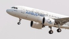 Airbus A320neo at Toulouse-Blagnac airport, on Sept. 25, 2014. (Frederic Lancelot / THE CANADIAN PRESS / AP)