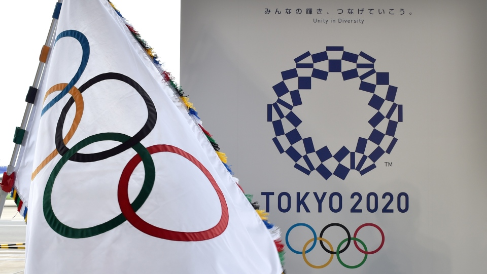 This file photo shows the Olympic flag of the Tokyo 2020 Olympic Games. (Kazuhiro Nogi/AFP)