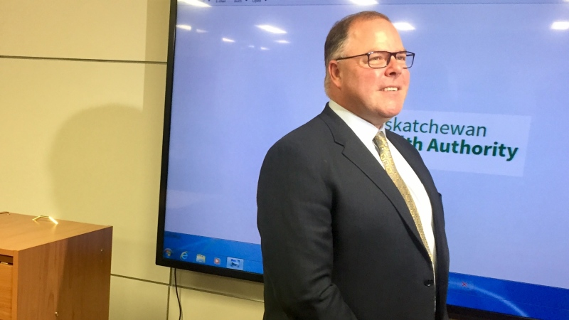 Saskatchewan Health Authority CEO Scott Livingstone on the first day of the new health authority's launch. (Laura Woodward/CTV Saskatoon)