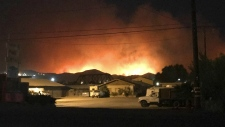 Wildfire breaks out in Southern California
