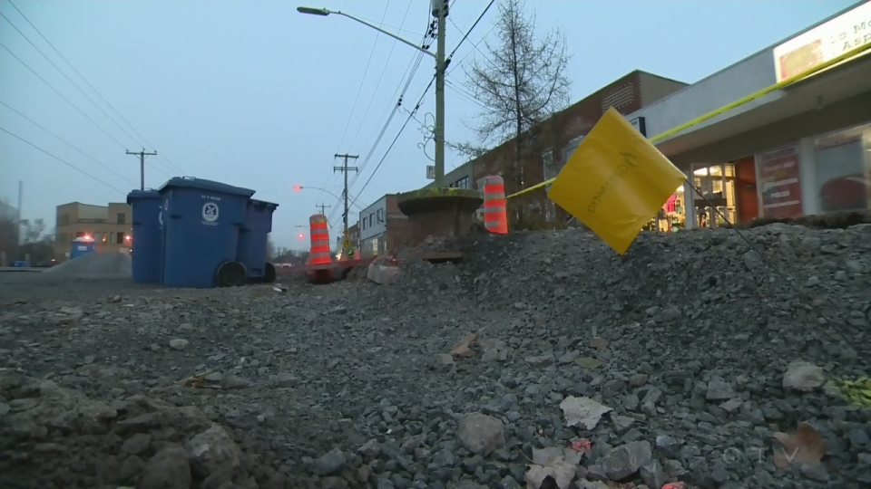 The city of Pointe Claire says a stretch of Cartier Ave. that's been under construction for months should be repaved by Dec. 15, 2017