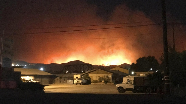 Wildfire in Santa Paula, Calif.