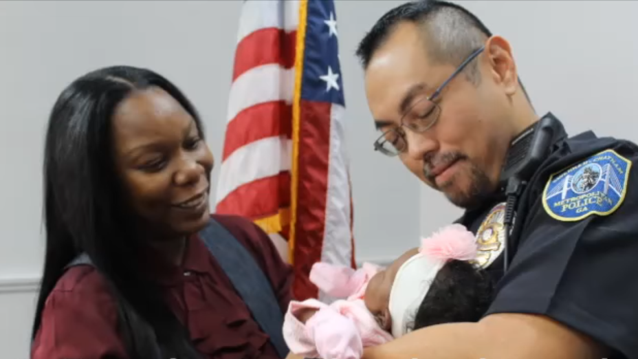 Officer William Eng was reunited with little Bella on Dec. 4, 2017.