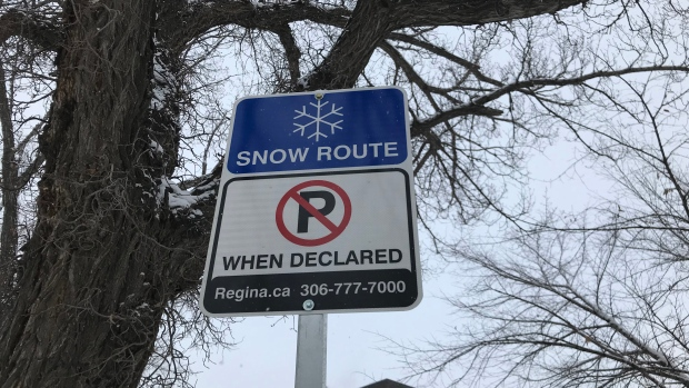 Regina snow route