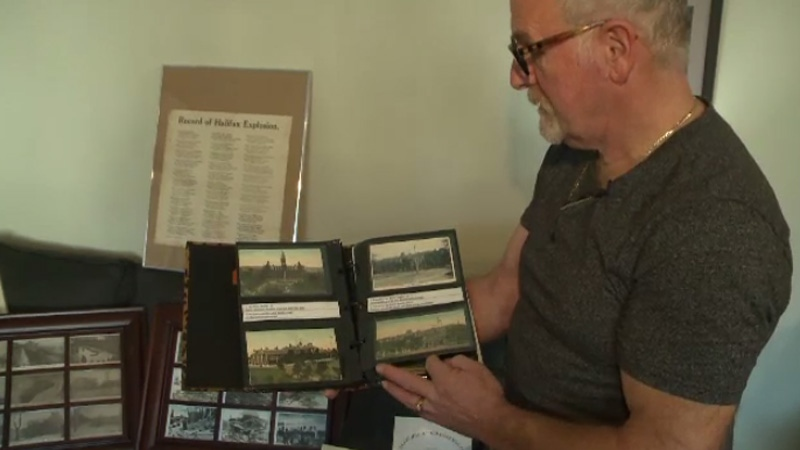 Sandy Lays has over 3,000 postcards documenting what Halifax looked like before and after the Halifax Explosion.