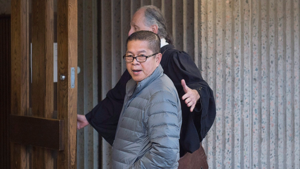 Hector Mantolino arrives at court in Halifax