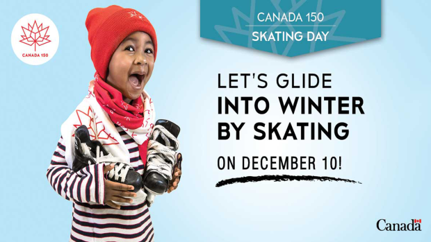 Canada 150 Skating Day at arenas on Sunday