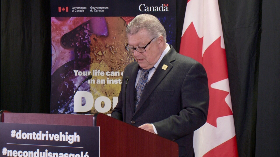 Public Safety Minister Ralph Goodale at launch.