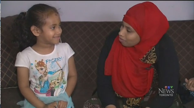 Nadia, 5, was injured after she said she was pushed off a school bus.