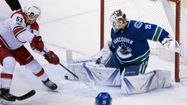Jacob Markstrom records first shutout