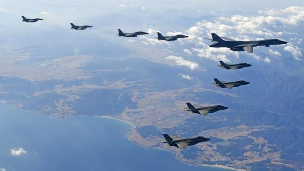 U.S. flies bomber over South Korea