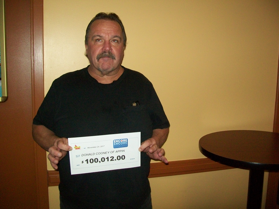 Donald Cooney of Appin for won $100,012 with ENCORE. (OLG)