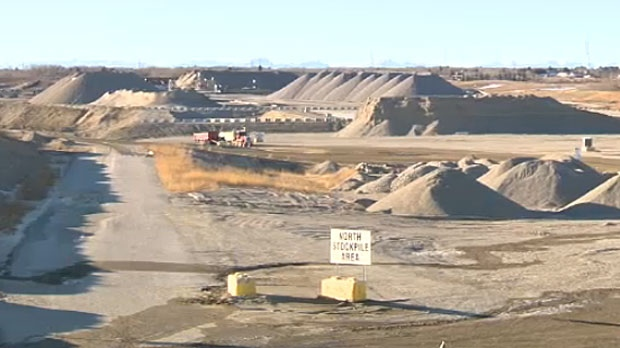 The Stoney Trail Aggregate Pit was shut down for about a week by the provincial government because of excessive dust levels.