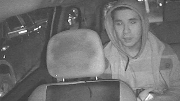 Police have released this still from security camera footage of Dale Burningsky King, who is wanted on a warrant for second-degree murder. (Hamilton Police handout)