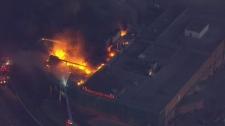 Burlington, industrial fire