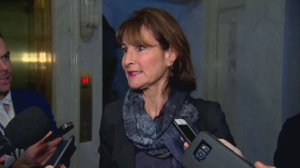 Minister for Anglos Kathleen Weil responds to questions about 'Bonjour, Hi'