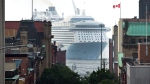 The cruise ship MS Anthem of the Seas arrives in Saint John, N.B., on Tuesday, Sept. 5, 2017. (THE CANADIAN PRESS/Andrew Vaughan)