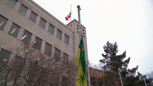 Flags half mast in Saskatoon