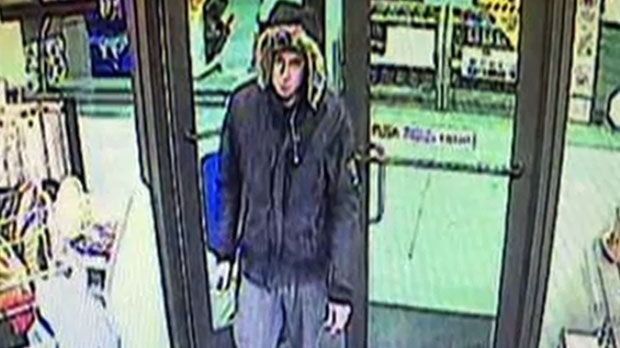 Surveillance camera still provided by the 7-Eleven in Canmore to the Yar Khan family