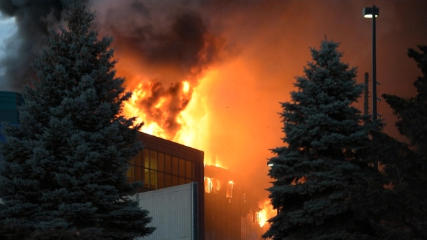 OFM to investigate massive fire at Burlington food processing plant