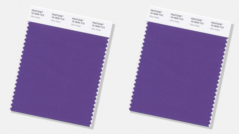 'Pantone Color of the Year for 2018': 'Ultra Violet' (Pantone Color Institute via AP)