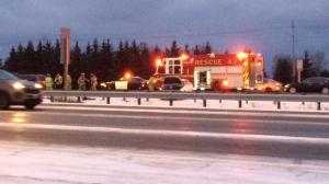 Multi-vehicle crash on Highway 417