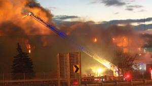 Firefighters battle intense fire in Burlington