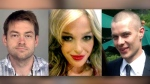 Dellen Millard (left) and Mark Smich (right) are accused of murdering Laura Babcock (centre). A judge is expected to begin instructing the jury today.