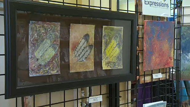 An art show featuring work by about a dozen Calgary artists who have physical or mental disabilities is on at the Memorial Park Library until Dec. 18.