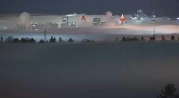 Dense fog prompts advisory for eastern Vancouver Island