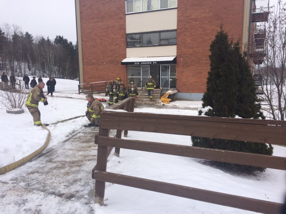 Apartment fire on Jogues Street in Sudbury
