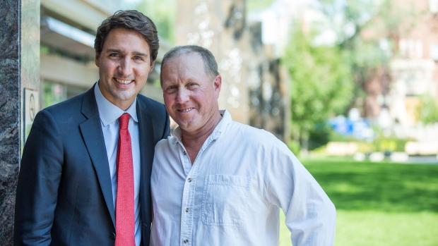 Larry Ingram and Justin Trudeau