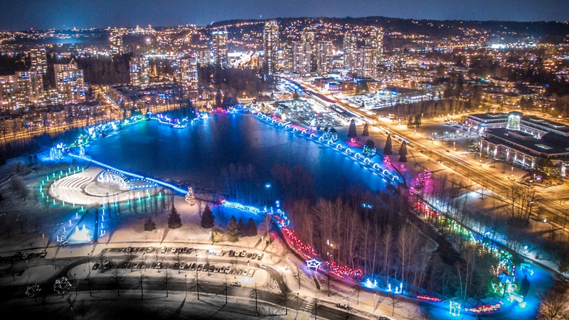 A massive display known as Lights at Lafarge is seen in this image from the City of Coquitlam.