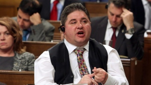 Disabilities Minister Kent Hehr is shown during Question Period in the House of Commons in Ottawa, Thursday, December 7, 2017. (Fred Chartrand / THE CANADIAN PRESS)